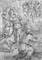 Abraham and the Three Angels, vasari