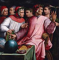 Boccaccio, Dante, Petrarca, vasari