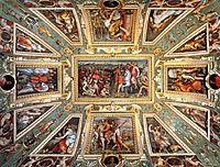 Ceiling decoration Palazzo Vecchio, Florence, vasari
