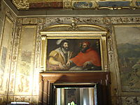 Clemenet VII and Francis I of France, vasari
