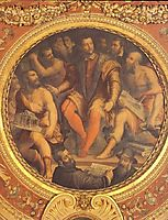 Cosimo I de Medici surrounded by his Architects, Engineers and Sculptors, 1555, vasari