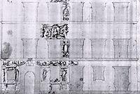 Design for the facade of Palazzo Ramirez de Montalvo, vasari