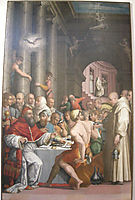 Dinner of St. Gregory the Great (Clement VII), vasari