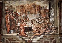 Paul III Farnese Directing the Continuance of St Peter-s, 1546, vasari