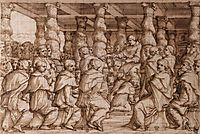 Pope Leo X Appointing Cardinals, vasari