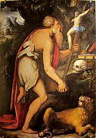 St. Jerome in meditation , vasari