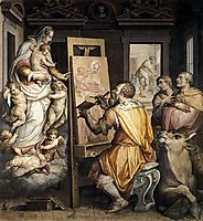 St. Luke Painting the Virgin, vasari