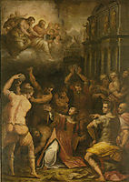 Stoning of St. Stephen, vasari