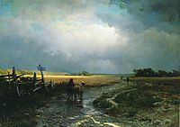 After a Rain. Country Road, 1869, vasilyev