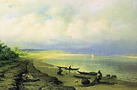 Bank of the Volga after the Storm, 1871, vasilyev