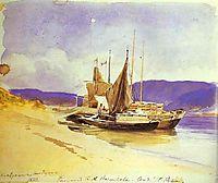 Barges near the Bank, 1870, vasilyev