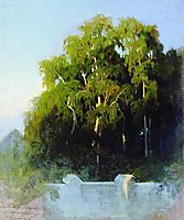 Birch Grove in the Evening, 1869, vasilyev