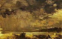 Clouds. The Village of Krestinskoye, 1867, vasilyev