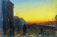 Dawn in St. Petersburg, 1870, vasilyev
