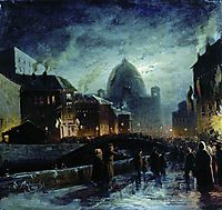 Illumination in St. Petersburg, 1869, vasilyev