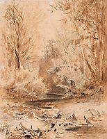 In the Mountain of the Crimea. Brook, 1873, vasilyev