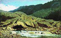 Landscape with a Rock and Stream, 1867, vasilyev