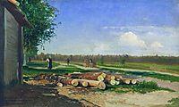 Logs by the Road, 1869, vasilyev