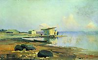 On the River. Calm, 1867, vasilyev