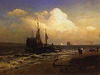On the River. Windy Day, 1869, vasilyev