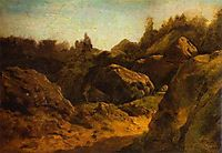 On Valaam. Rocks, 1867, vasilyev