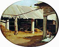 Peasant-s Courtyard, 1869, vasilyev