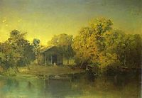 Pond at the Sunset, 1871, vasilyev