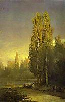 Poplars Lit by the Sun, vasilyev