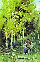 Road through a Birchwood, 1869, vasilyev