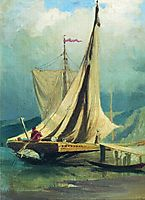 Sailboats. Study, vasilyev
