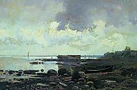 The Shore. Cloudy Day, 1869, vasilyev