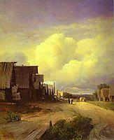 Street in a Village, 1868, vasilyev