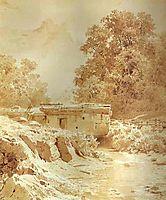 Water Mill on a Mountain River. Crimea, vasilyev