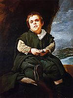 The Court Dwarf, Don Franciso Lezcano called -El Nino de Vallecas-, 1637, velazquez