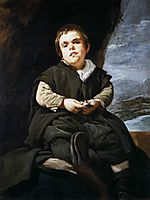 The Dwarf Francisco Lezcano, called -El Niño de Vallecas-, 1643-45, velazquez