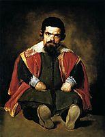 The Dwarf Sebastian de Morra, 1645, velazquez