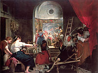 The Fable of Arachne, or The Spinners, 1656, velazquez