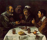 Farmers at the supper (El Almuerzo), 1620, velazquez