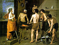 The Forge of Vulcan, 1630, velazquez