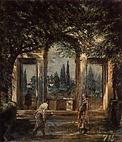 The Gardens of the Villa Medici in Rome, 1630, velazquez