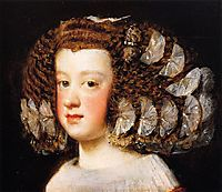 The Infanta Maria Theresa, daughter of Philip IV of Spain, 1654, velazquez