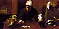 Kitchen scene with the Supper at Emmaus, 1618, velazquez