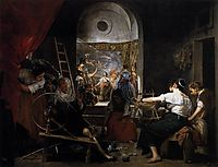The legend of Arachne The Spinners, 1657, velazquez