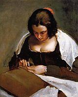 The Needlewoman, 1643, velazquez
