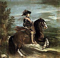 Philip IV on horseback (detail), 1634-35, velazquez