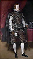 Philip IV of Spain in Brown and Silver, 1632, velazquez