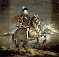 Philip III on horseback, 1634-35, velazquez