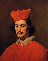 Portrait of Cardinal Camillo Astali Pamphili, 1650, velazquez