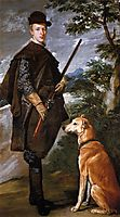 Portrait of Cardinal Infante Ferdinand of Austria with Gun and Dog, 1632, velazquez