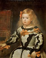 Portrait of the Infanta Maria Marguerita, 1654, velazquez